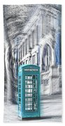 London Telephone Turquoise Bath Towel