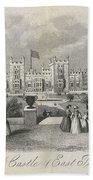 London Windsor Castle East Terrace, The Queen's Private Apartments Bath Towel