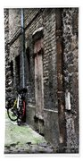 Lone Bike In France Bath Towel