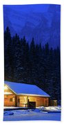 Lone Cabin In The Rockies Bath Towel