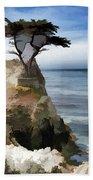 Lone Cypress Tree Pebble Beach  Bath Towel
