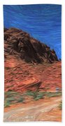 Lone Rock Road Paint  Hand Towel