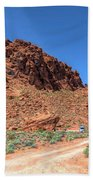 Lone Rock Valley Of Fire  Hand Towel