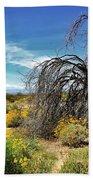 Lone Tree In Blooming Desert Hand Towel