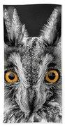 Long Eared Owl 2 Bath Towel