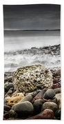 Long Exposure At Lawrencetown Beach, Nova Scotia Bath Towel