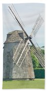 Long Island Wind Mill Bath Towel