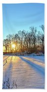 Long Shadows Of Winter 2 Hand Towel