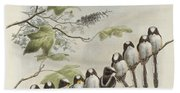 Long-tailed Tit  Hand Towel