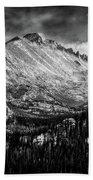 Longs Peak Rocky Mountain National Park Black And White Bath Towel
