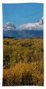 Looking Across Willow Flats To Mt Moran Bath Towel