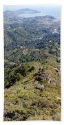 Looking Down From The Top Of Mount Tamalpais 2 Bath Towel