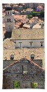 Looking Down On Old Dubrovnik Bath Towel