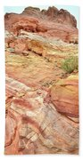 Looking Up From Wash 3 In Valley Of Fire Bath Towel