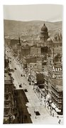 Looking Up Market Street From The Call Building With City Hall Circa 1900 Bath Towel