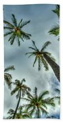 Looking Up The Hawaiian Palm Tree Hawaii Collection Art Bath Towel