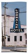 Lorraine Hotel Sign Bath Towel