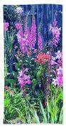 Los Osos Flower Garden Bath Towel