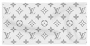 Louis Vuitton Pattern - Lv Pattern 14 - Fashion And Lifestyle Hand Towel