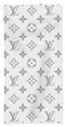 Louis Vuitton Pattern - Lv Pattern 14 - Fashion And Lifestyle Bath Towel
