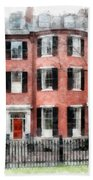Louisburg Square Beacon Hill Boston Hand Towel