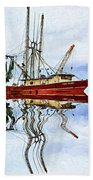Louisiana Shrimp Boat 4 - Impasto Bath Towel