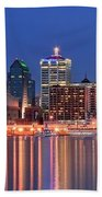 Louisville Panoramic At Blue Hour Bath Towel