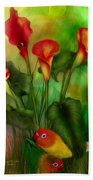 Love Among The Lilies  Bath Towel