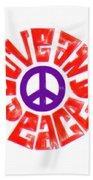 Love And Peace 14 Bath Towel