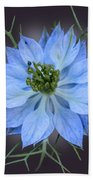 Love In A Mist Black With Light Bath Towel