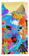 Love Is In The Dog's Eyes  Bath Towel