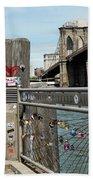 Love Locks In Brooklyn New York Bath Towel