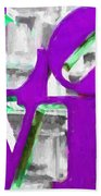Love Philadelphia Purple Digital Art Bath Towel
