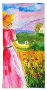 Lovely Lady Landscape Hand Towel