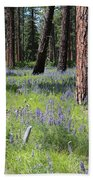 Lovely Lupine In The Mountains Bath Towel