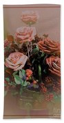Lovely Rustic Rose Bouquet Hand Towel