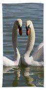 Loving Swans Bath Towel