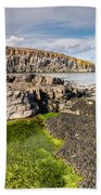 Low Tide At Cullernose Point Bath Towel