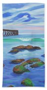 Low Tide At Haskell's Beach Bath Towel