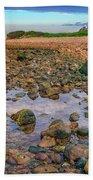 Low Tide At Montauk Point Bath Towel