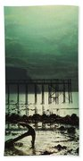 Low Tide By Moonlight Bath Towel