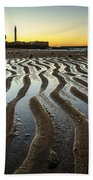 Low Tide On La Caleta Cadiz Spain Bath Towel