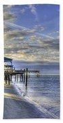 Low Tide Sunrise Tybee Island Bath Towel