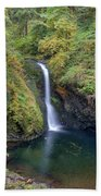 Lower Butte Creek Falls Plunging Into A Pool Hand Towel