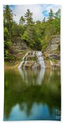 Lower Falls Of Enfield Glen Early Autumn Bath Towel