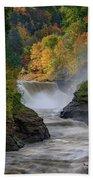 Lower Falls Of The Genesee River Bath Towel