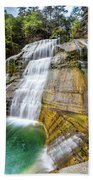 Lower Falls Profile At Enfield Glen Bath Towel