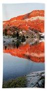 Lower Ottoway Lake Sunset - Yosemite Bath Towel