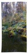 Lower Pond At Portland Japanese Garden Hand Towel