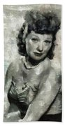 Lucille Ball Vintage Hollywood Actress Bath Towel
